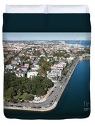 Charleston South Carolina Riverfront Duvet Cover
