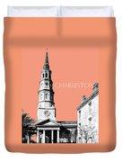 Charleston St. Phillips Church - Salmon        Duvet Cover