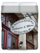 Charleston Tobacco And Wine Sign Duvet Cover