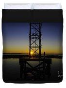 Charleston Water Sunset Duvet Cover
