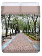 Charleston Waterfront Park Walkway Duvet Cover