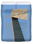 Charleston's Cable Bridge Geometric Abstract Duvet Cover