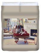 Charlie And Lizzie Duvet Cover