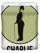 Charlie Poster 1 Duvet Cover by Naxart Studio