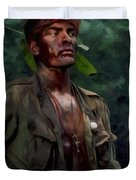 Charlie Sheen In Platoon Duvet Cover