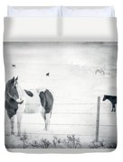 Charlie The Friendly Mare Duvet Cover