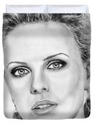Charlize Theron In 2008 Duvet Cover