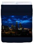 Charlotte North Carolina Panoramic Image Duvet Cover by Chris Flees