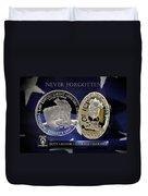 Charlotte Police Memorial Duvet Cover by Gary Yost