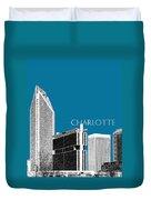 Charlotte Skyline 1 - Steel Duvet Cover