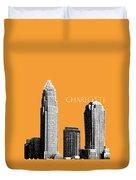 Charlotte Skyline 2 - Orange Duvet Cover