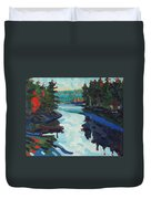 Charlton Lake Camp Sunrise Duvet Cover