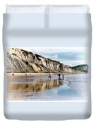Charmouth Beach Duvet Cover