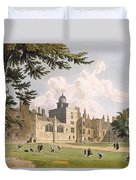 Charter House From The Play Ground Duvet Cover