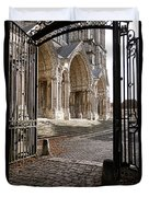 Chartres Cathedral North Transept Duvet Cover