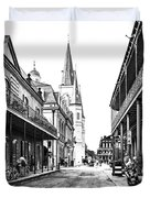 Chartres St In The French Quarter 3 Duvet Cover