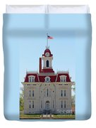 Chase County Courthouse In Kansas Duvet Cover