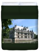 Chateau Azay-le-rideau From The Gardens  Duvet Cover