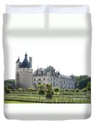 Chateau  Chenonceau And Garden Duvet Cover