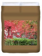 Chateau Chenonceau Vines On Wall Image One Duvet Cover