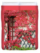 Chateau Chenonceau Vines On Wall Image Three Duvet Cover