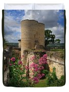 Chateau Chinon In The Loire Valley Duvet Cover
