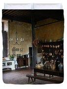 Chateau De Cormatin Kitchen - Burgundy Duvet Cover