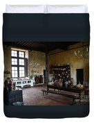 Chateau De Cormatin Kitchen - Burgundy Duvet Cover