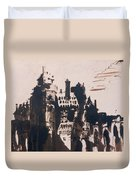 Chateau Fortified By Two Bridges Duvet Cover by Victor Hugo