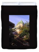 Chateau Frontenac In Quebec Duvet Cover
