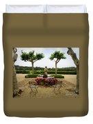 Chateau Malherbe Fountain Duvet Cover by Lainie Wrightson