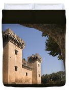 Chateau Of King Rene, France Duvet Cover