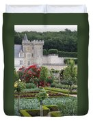 Chateau Villandry And The Cabbage Garden  Duvet Cover