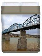 Chattanooga Longest Walking Bridge Duvet Cover by Kathy  White