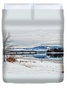 Chatuge Dam Winter Vista Duvet Cover