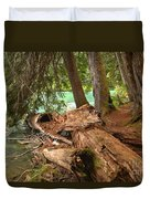 Cheakamus Lake Shoreline Duvet Cover