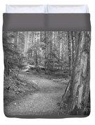 Cheakamus Trail In Black And White Duvet Cover