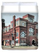 Cheboygan Michigan - Opera House And City Hall - Huron Street - 1905 Duvet Cover