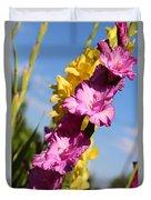 Cheerful Gladiolus Duvet Cover