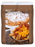Cheesy Bacon Fries And Funnel Cake Duvet Cover