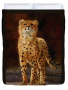 Cheetah Cub Duvet Cover