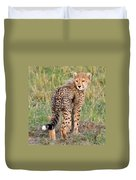 Cheetah Cub Looking Your Way Duvet Cover