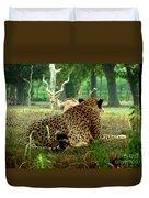 Cheetah Lunch-87 Duvet Cover