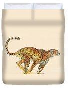 Cheetah Painting Duvet Cover