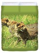Cheetahs Running Duvet Cover