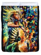 Chelo Player Duvet Cover