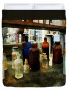 Chemistry - Assorted Chemicals In Bottles Duvet Cover