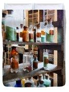 Chemistry - Bottles Of Chemicals Duvet Cover
