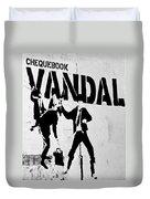 Chequebook Vandal Duvet Cover