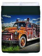 Cherokee Fire Truck Duvet Cover